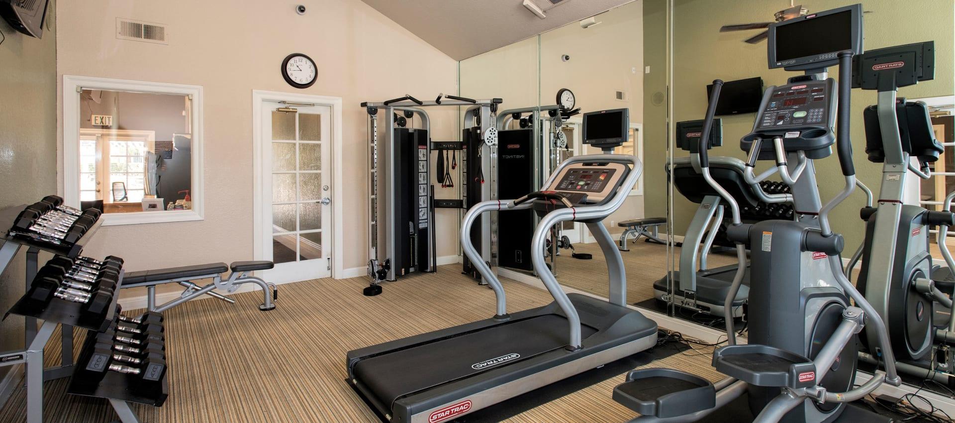 Fitness center at Hidden Hills Condominium Rentals in Laguna Niguel, California