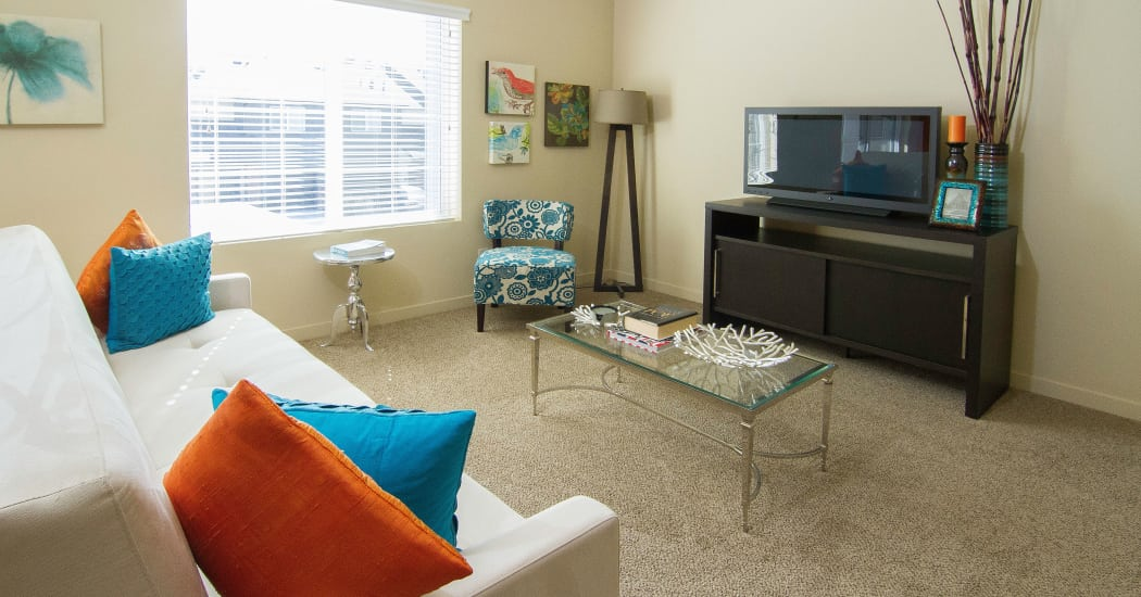 Enjoy an ample living space at Wilshire Place Apartments