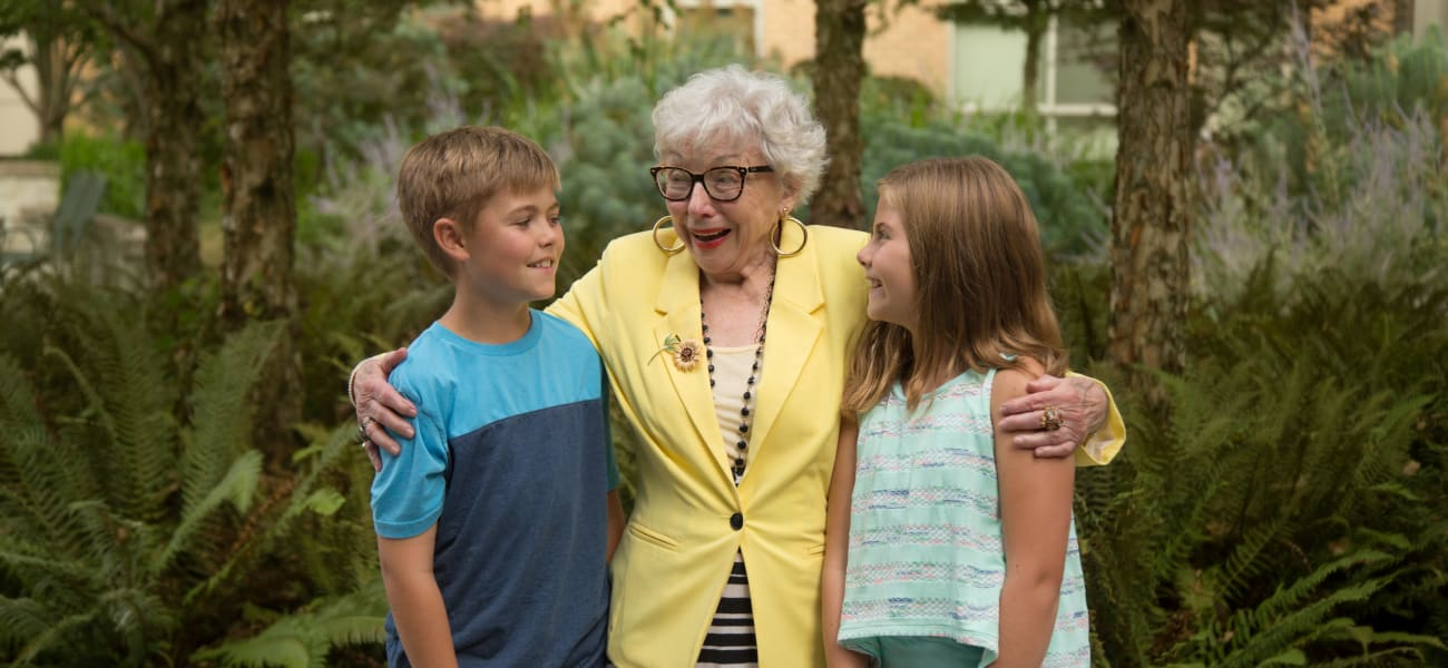 A resident in the Adopt a Grandparent program at Merrill Gardens.