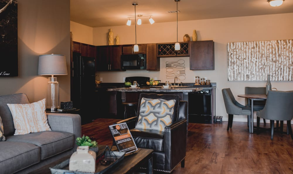 Open Concept Living Space at Springs at Creekside in New Braunfels, TX