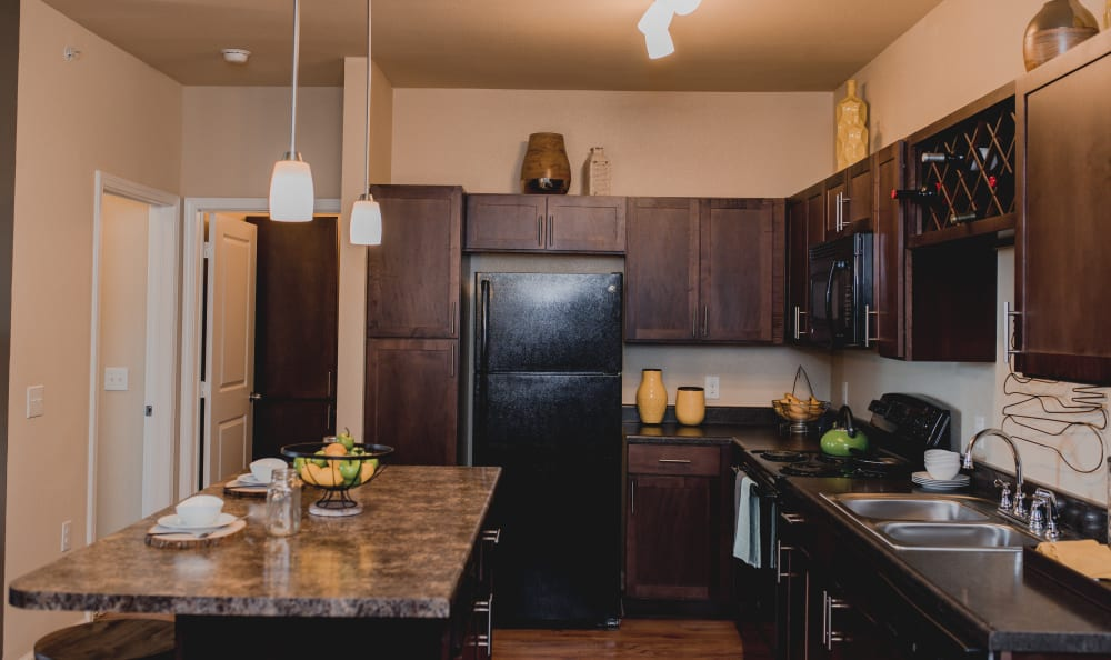Fully Equipped Kitchen at Springs at Creekside in New Braunfels, TX