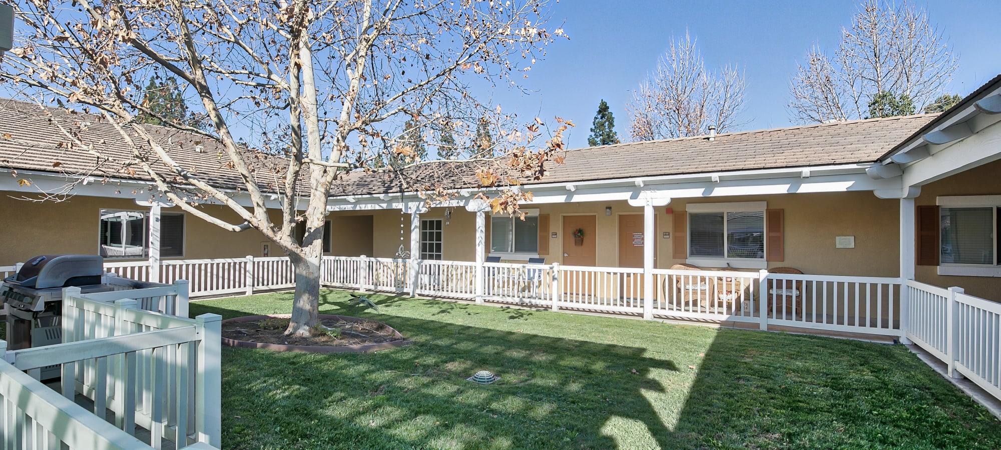 Courtyard at Sunlit Gardens in Alta Loma, California