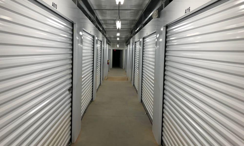 Interior units at AAA Self Storage in Greensboro, NC
