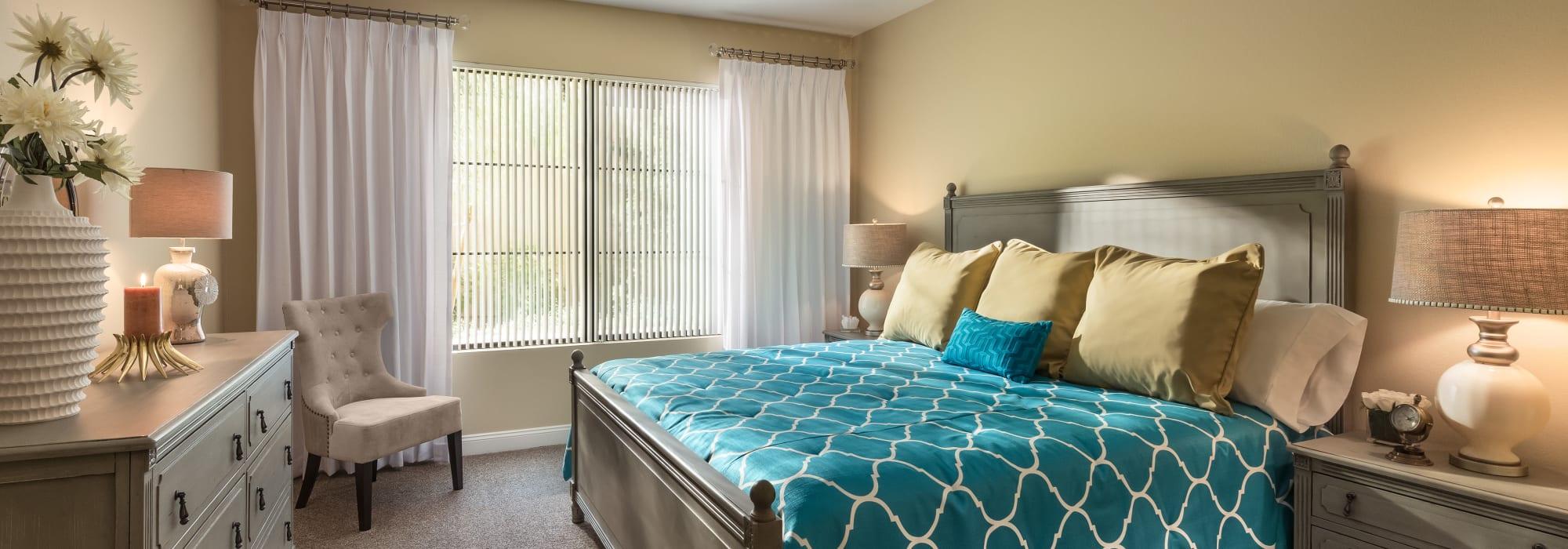 Luxury bedroom at San Portales in Scottsdale, Arizona