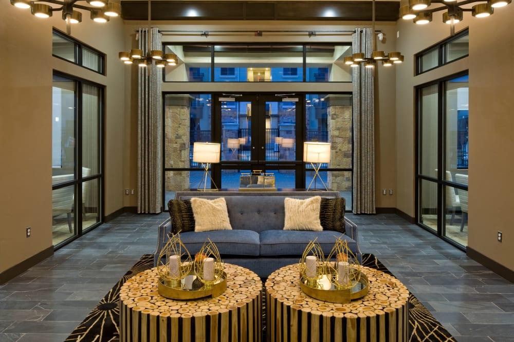 Elegant lounge area at Olympus Alameda in Albuquerque, New Mexico