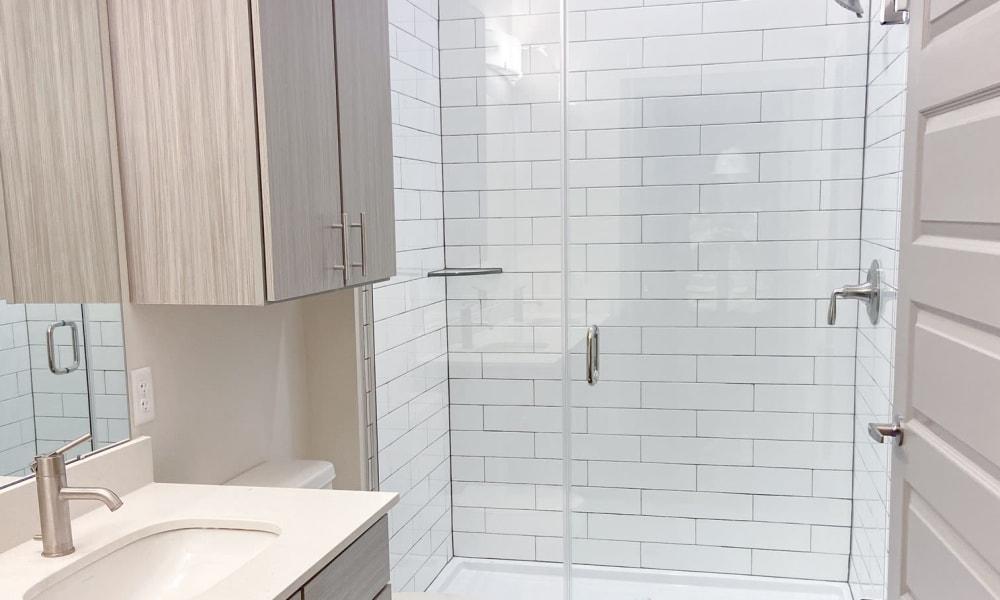 Sophisticated bathroom design  The Alcott in Denver, Colorado