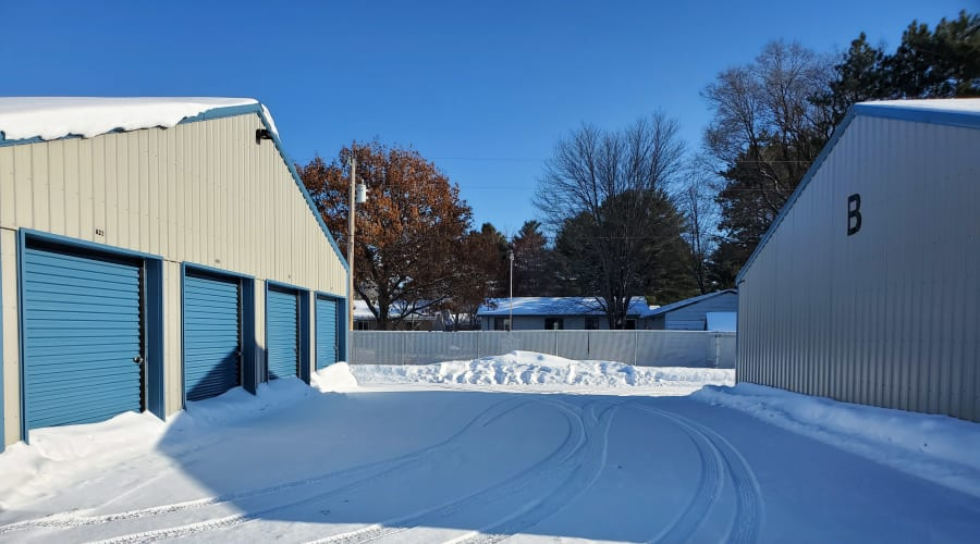 Exterior of outdoor units at KO Storage of Princeton in Princeton, Minnesota