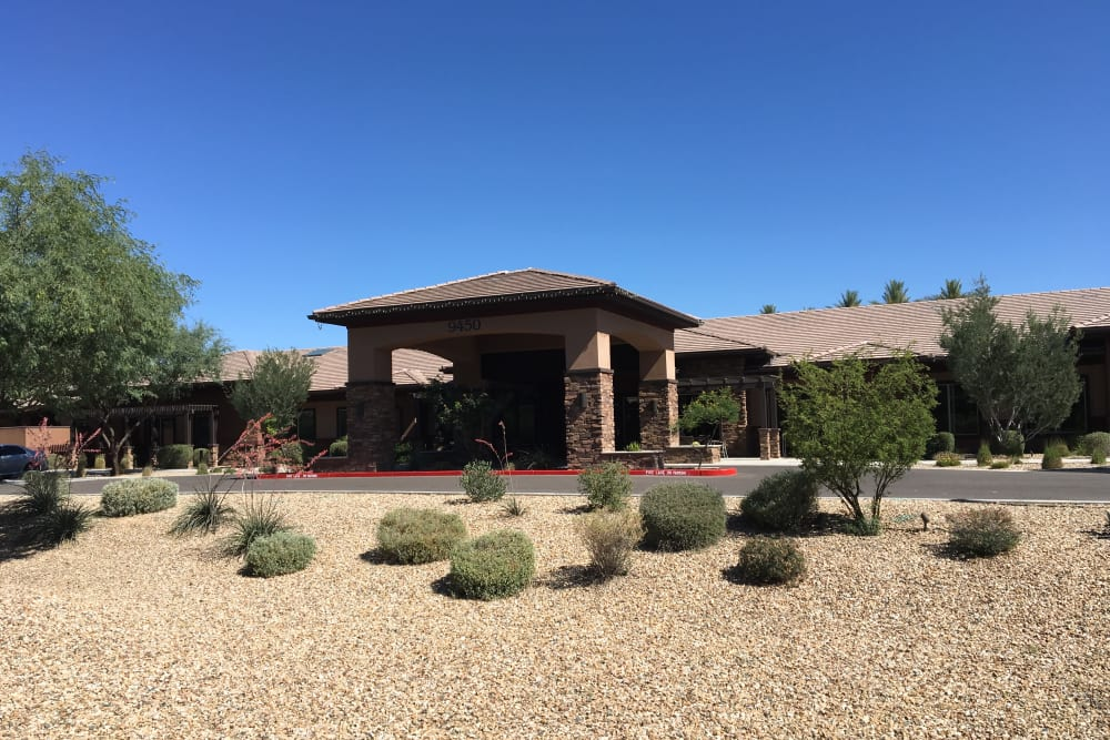Building exterior of Avenir Memory Care at Scottsdale in Scottsdale, Arizona