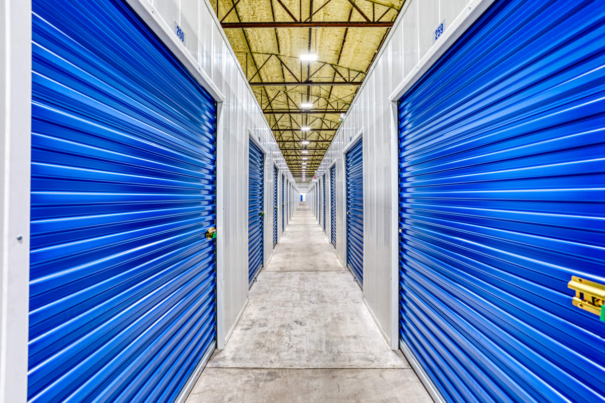 Climate-controlled storage units at Devon Self Storage in Davenport, Iowa
