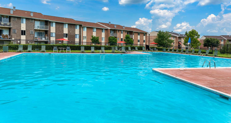 Pool at Commons at White Marsh Apartments in Middle River, MD