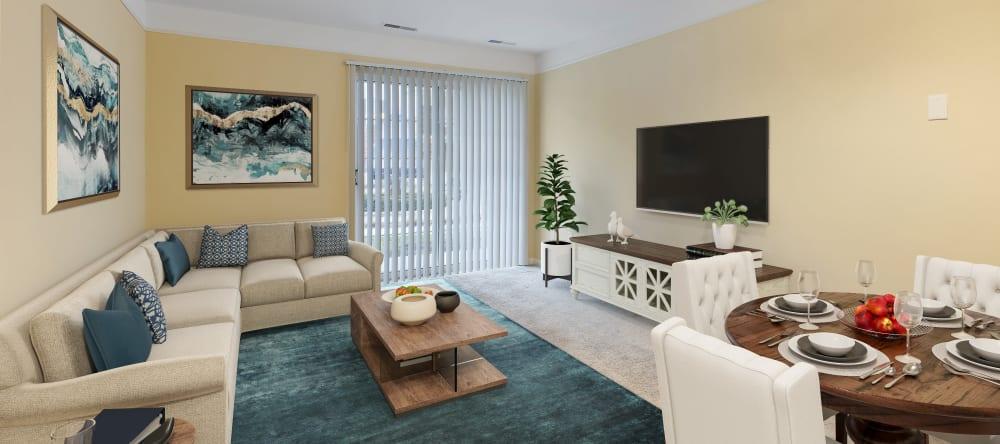 apartment living room in Novi, MI