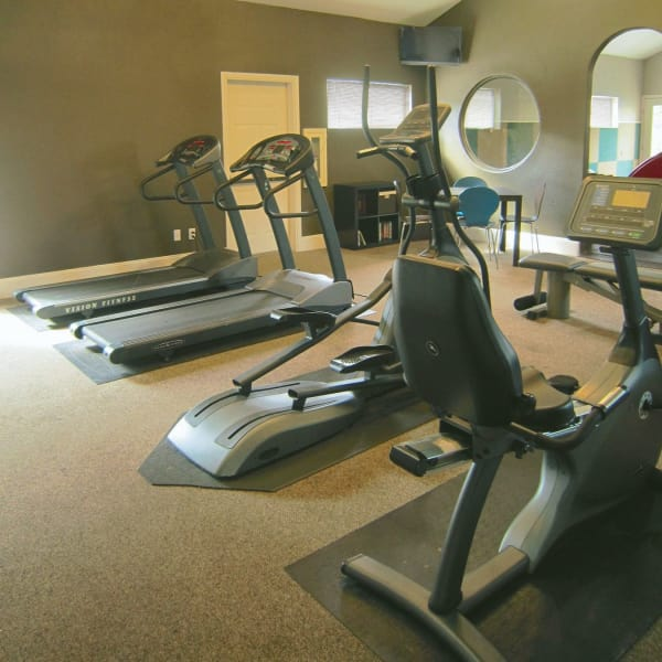 Fitness center at Bridge Creek Apartments in Vancouver