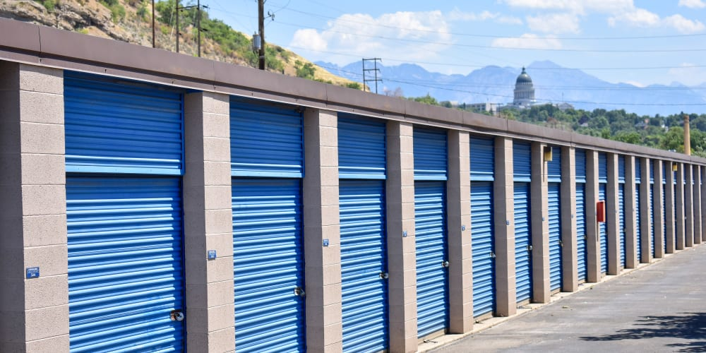Blue doors on units at STOR-N-LOCK Self Storage in Salt Lake City, Utah
