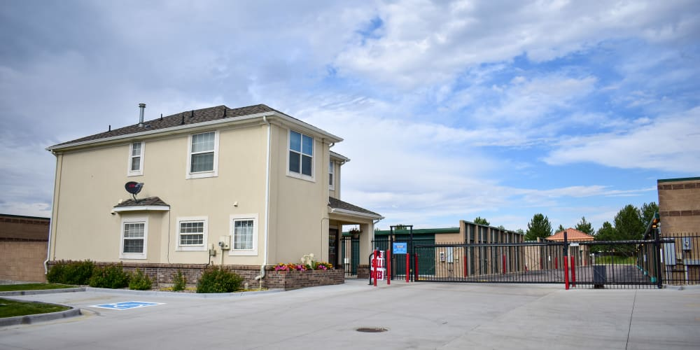 The front entrance to STOR-N-LOCK Self Storage in Littleton, Colorado
