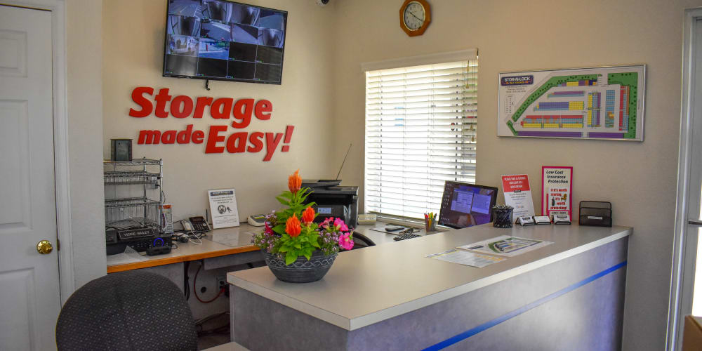 Inside the office at STOR-N-LOCK Self Storage in Thornton, Colorado