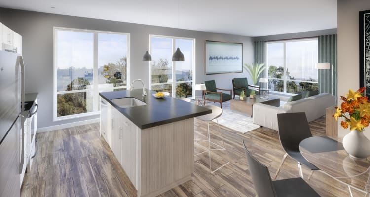 Spacious floor plans at 50 Front Luxury Apartments