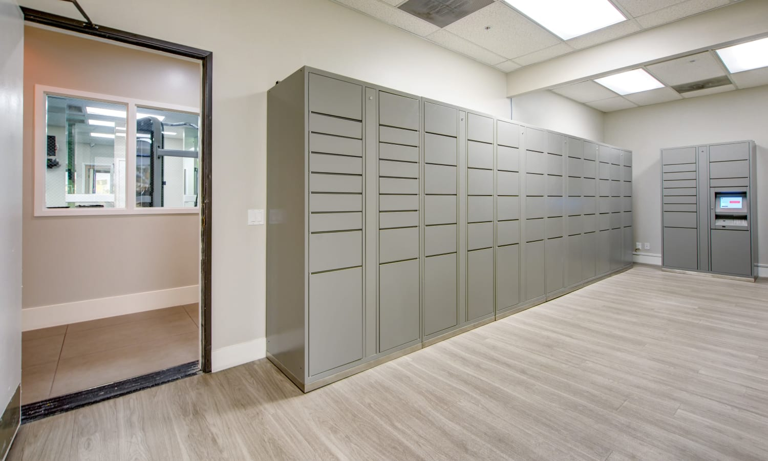 Package Lockers at Sofi at 3rd in Long Beach, CA