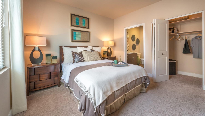 Comfortable master bedroom at Olympus Encantada in Albuquerque, New Mexico