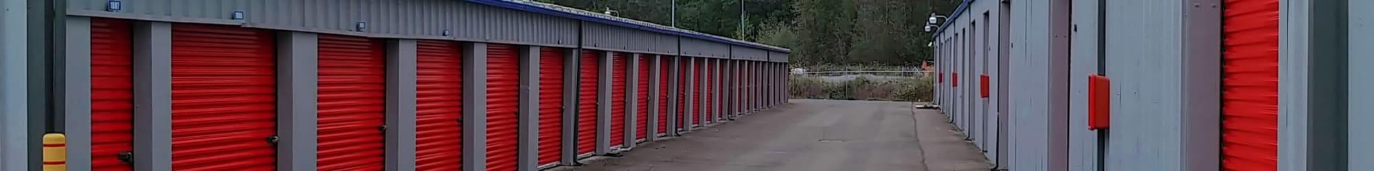 Self storage features at Trojan Storage in Bothell, Washington