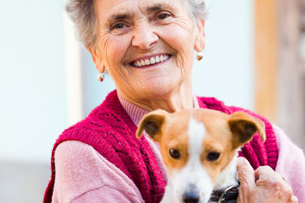 Pet friendly apartments at Pacific View Senior Living Community in Bandon, Oregon