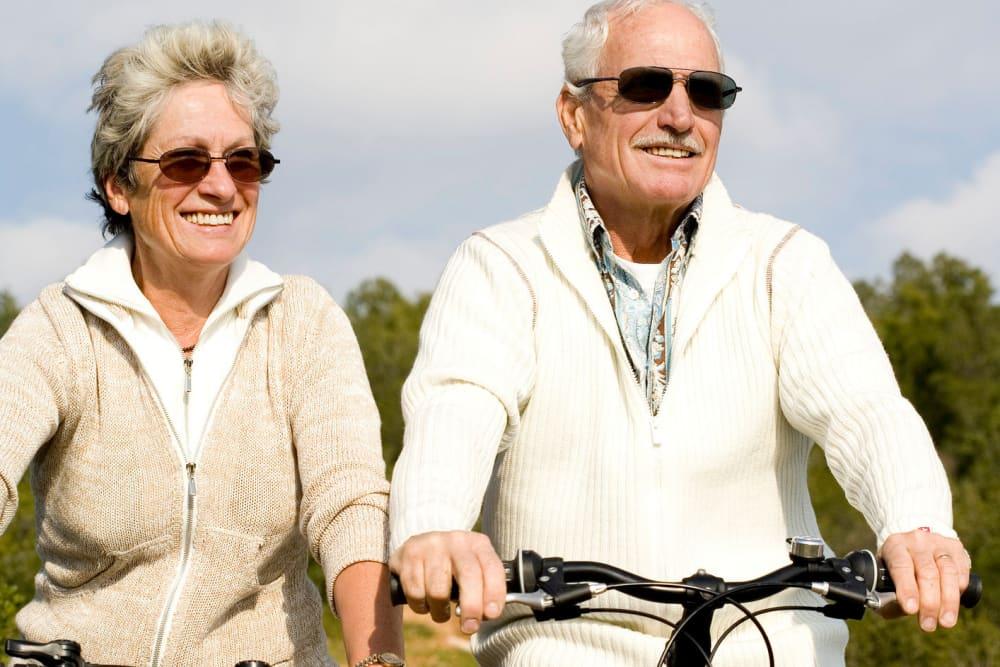 Arthur Capper Senior Apartments residents riding bikes