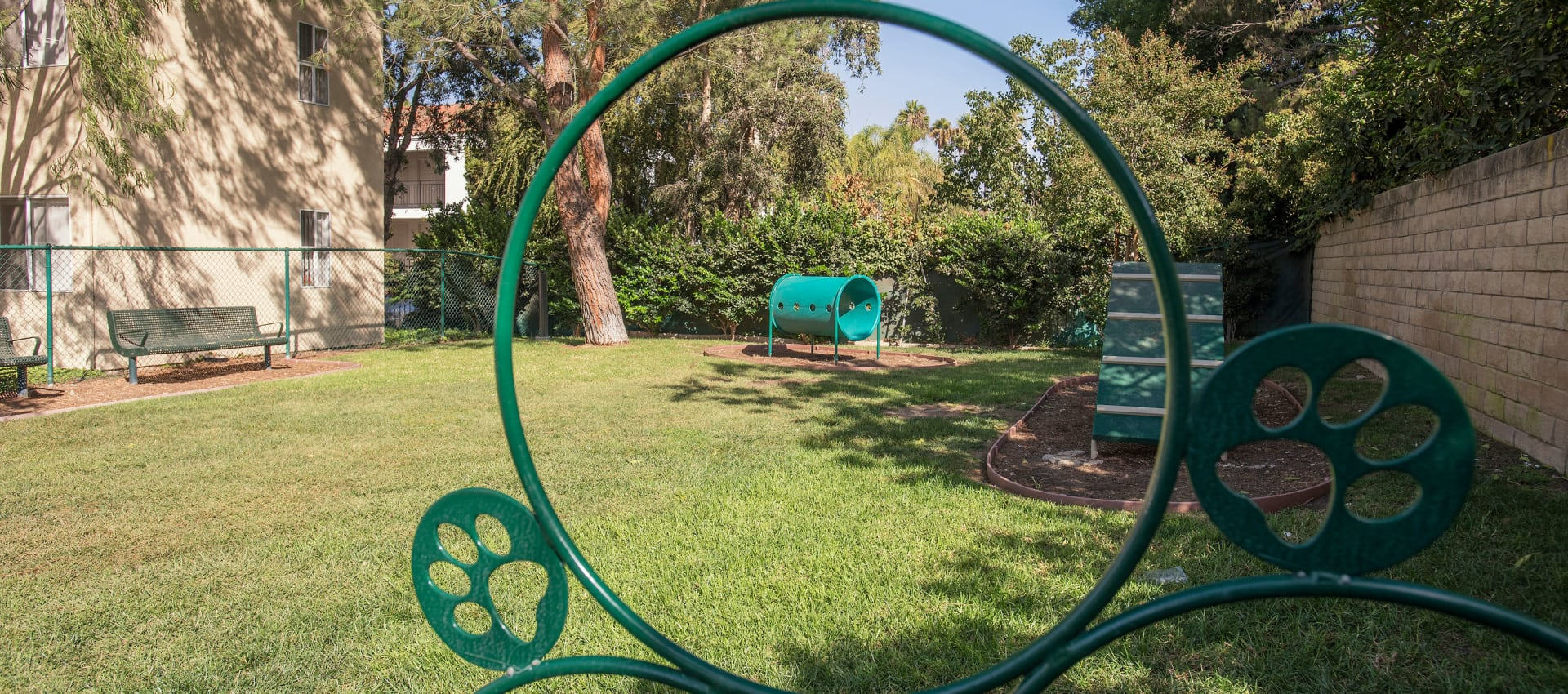 Fenced-In Dog Park at Shadow Ridge Apartment Homes in Simi Valley