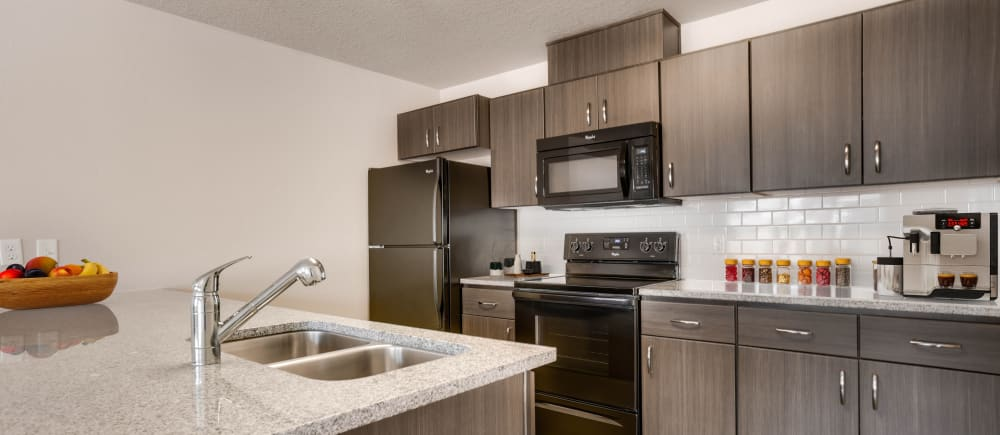 A luxurious kitchen at Terrene at the Grove in Wilsonville, Oregon