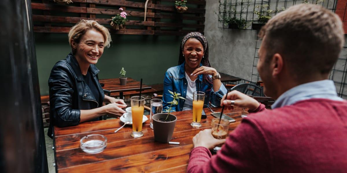 Friends having brunch in Charlotte, North Carolina near Marquis of Carmel Valley