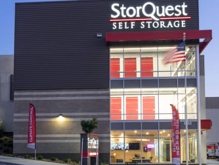 Store front at StorQuest Self Storage in La Mesa, CA