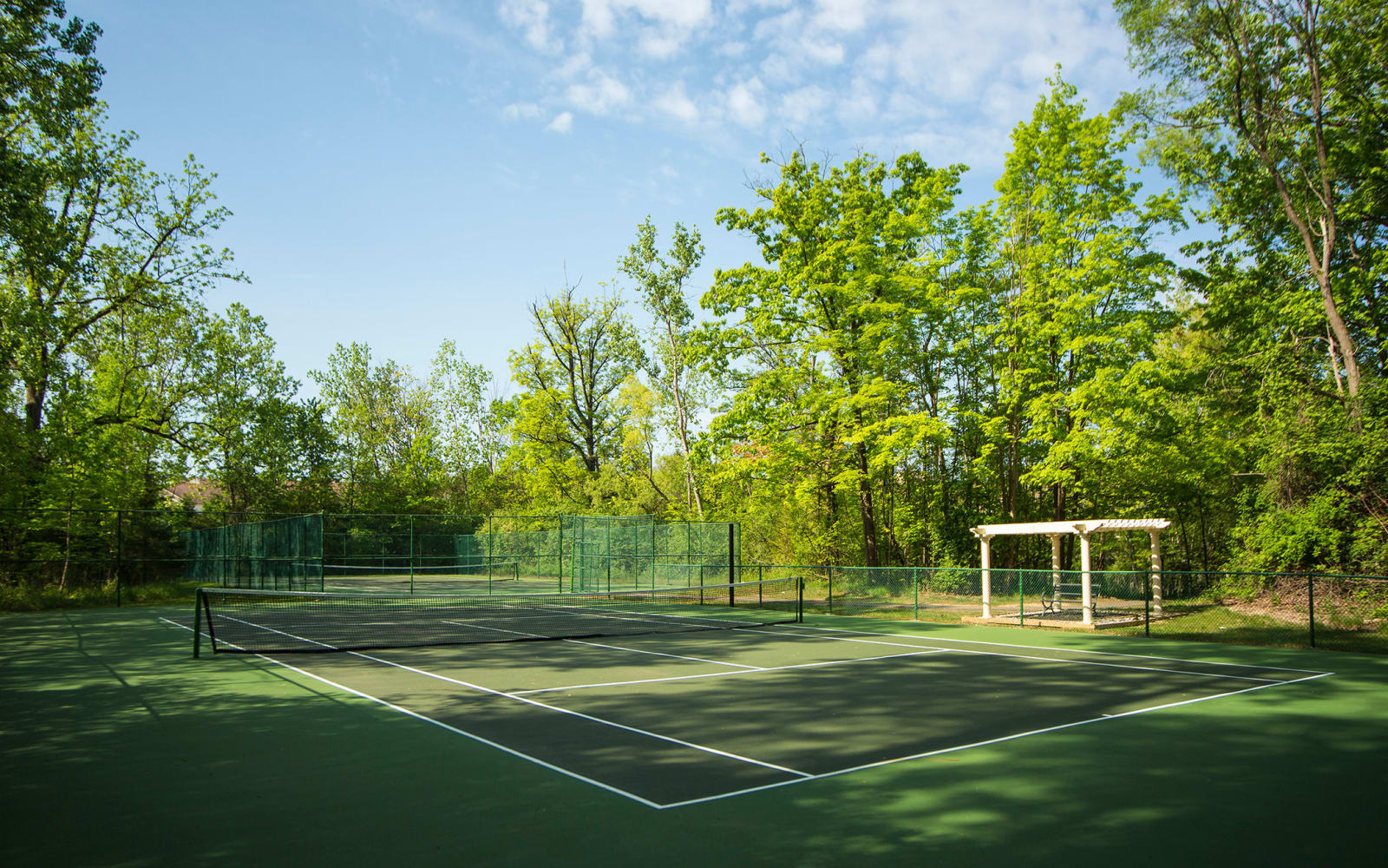 Tennis court at Aldingbrooke in West Bloomfield, Michigan