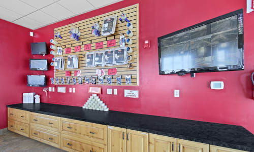Accessories available for purchase at Market Place Self Storage in Park City, Utah