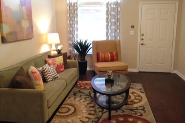 Cozy living room at Station at Mason Creek