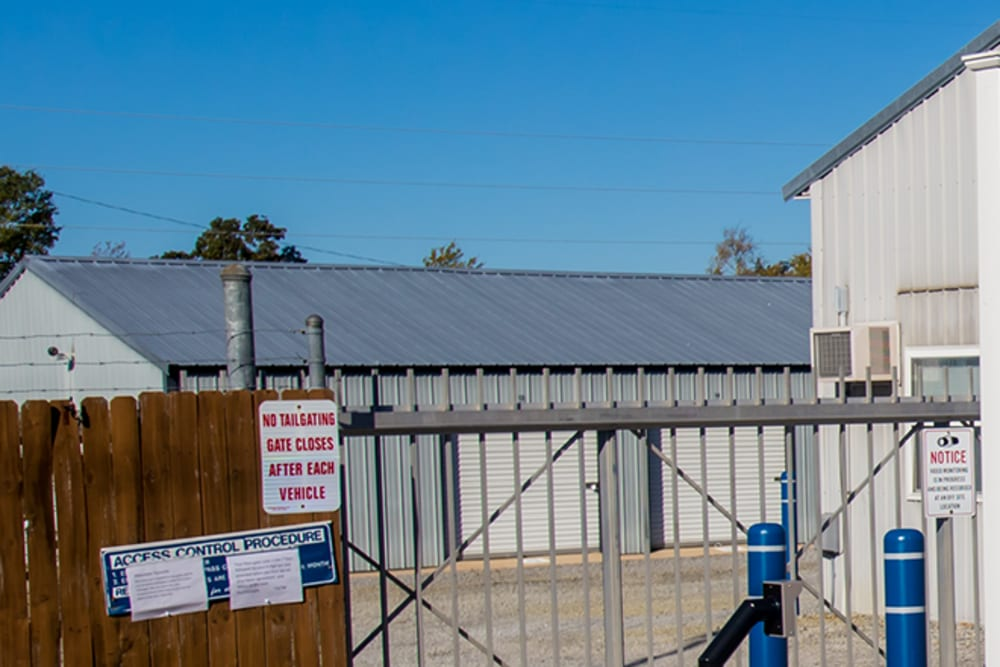 Gated entry at StayLock Storage in Chapin, South Carolina