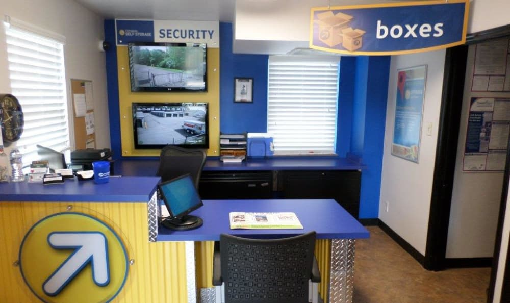 Office Desk at Compass Self Storage in Cincinnati