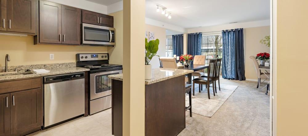 Spacious kitchen at Waltonwood Twelve Oaks senior apartments