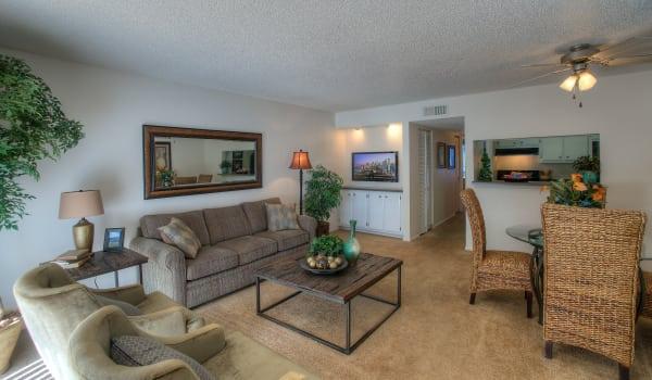 Luxury living room at Verona Park Apartments in Mesa