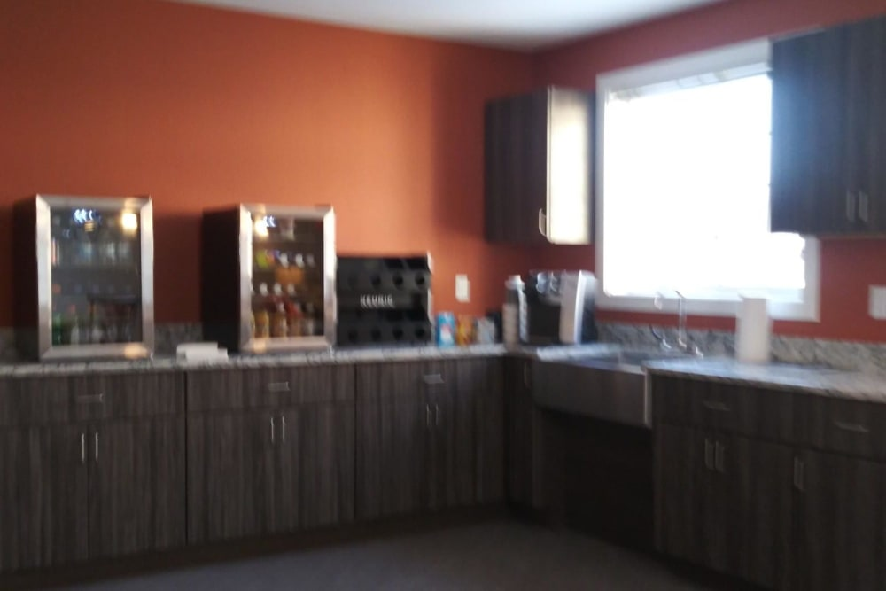 Resident kitchen at Arlington Place of Red Oak in Red Oak, Iowa