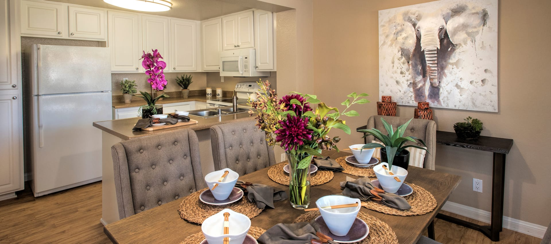 Dining room at Hidden Hills Condominium Rentals in Laguna Niguel, California