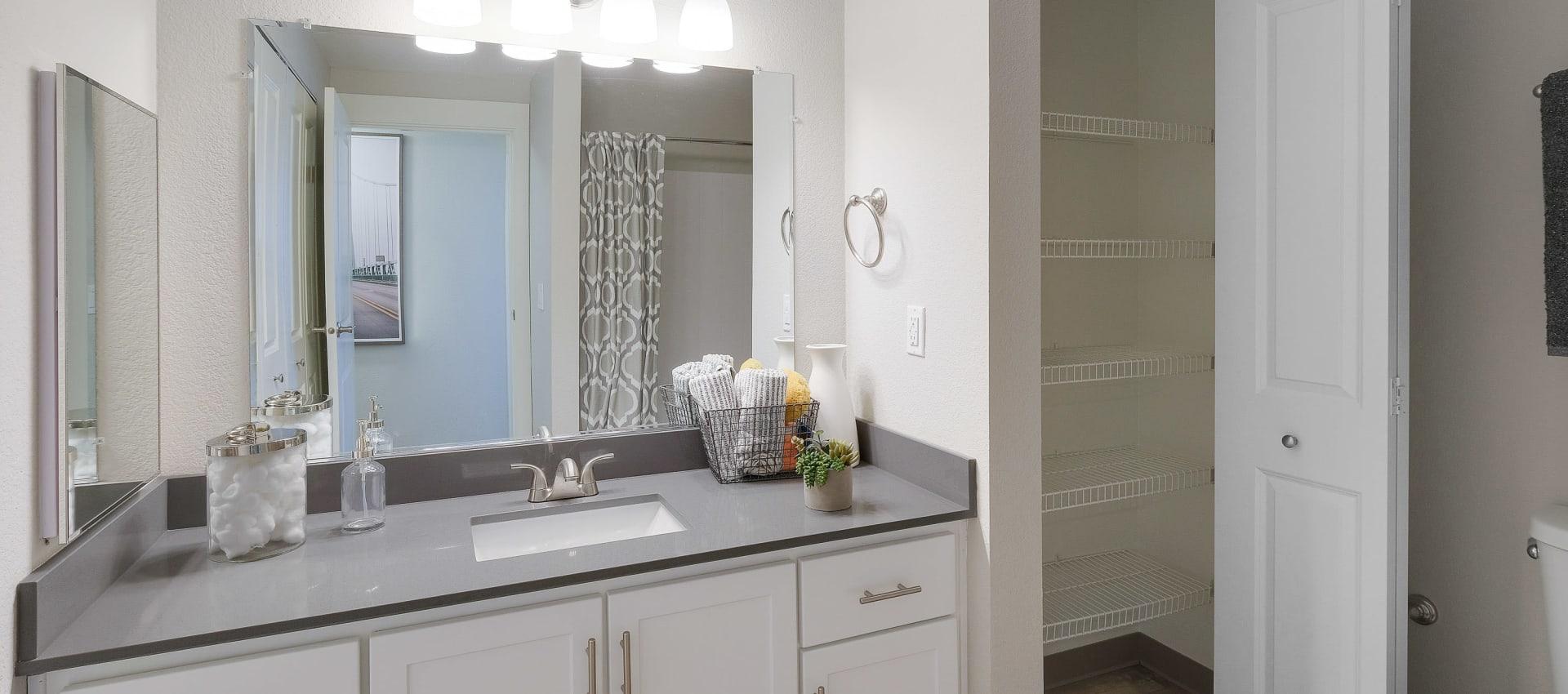 Beautiful bathroom at Centro Apartment Homes in Hillsboro, Oregon