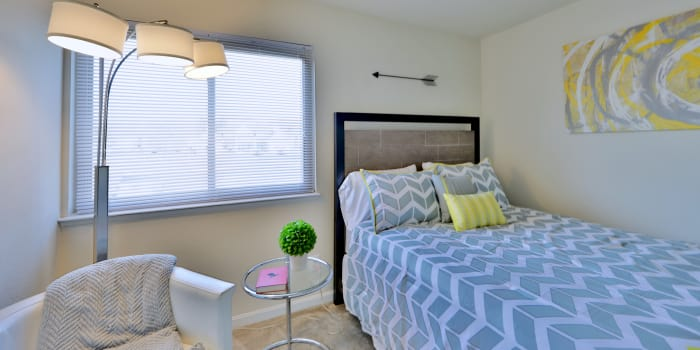Enjoy a beautiful bedroom at Seneca Bay Apartment Homes