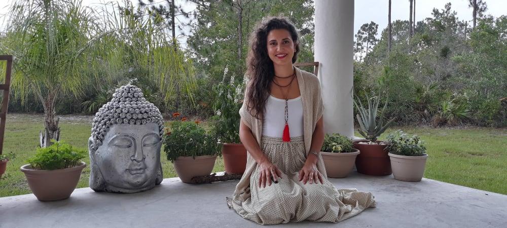 Yoga Instructor sitting down