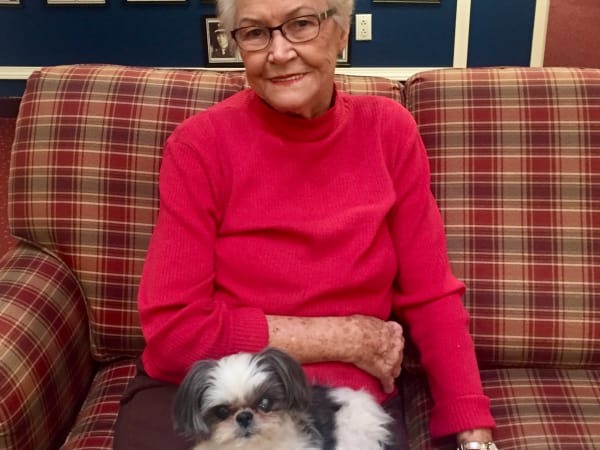 Lucy Uubarri and Mr. Wally at Paloma Landing Retirement Community in Albuquerque, New Mexico