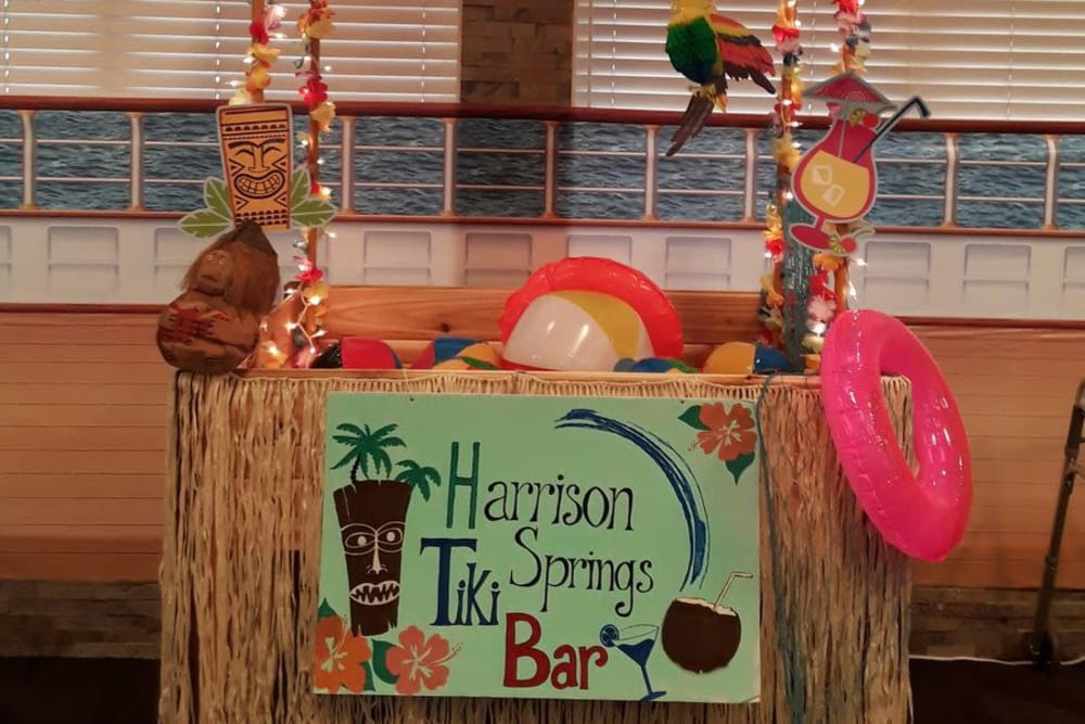 A tiki bar for residents at Harrison Springs Health Campus in Corydon, Indiana