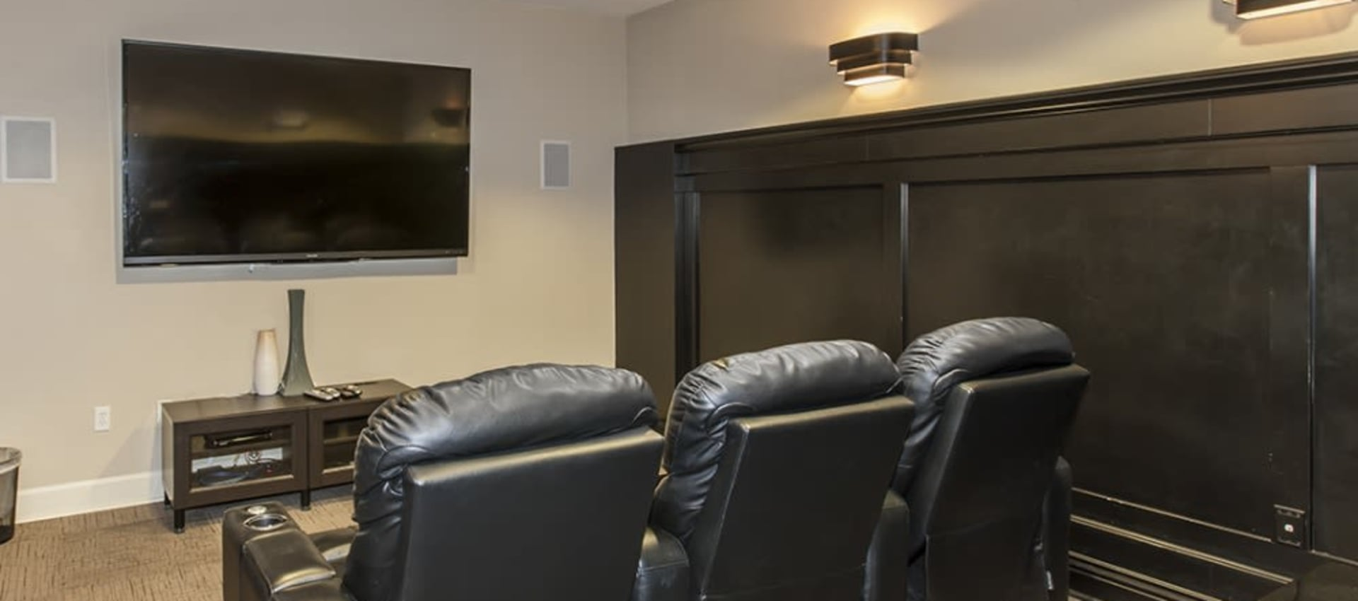 Comfortable movie room at Park Central in Concord, California