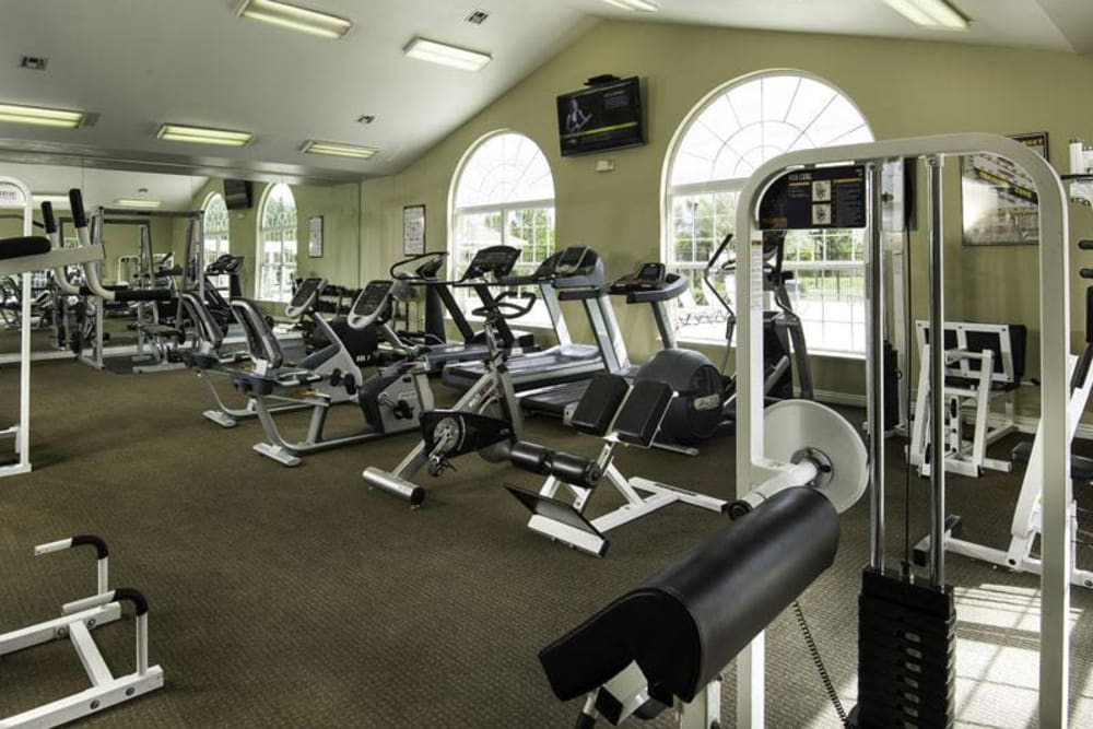 Workout room at Fairstone at Riverview Apartments in Taylorsville, Utah