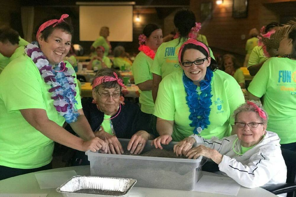 Residents having fun during a retreat at Village Green Health Campus in Greenville, Ohio