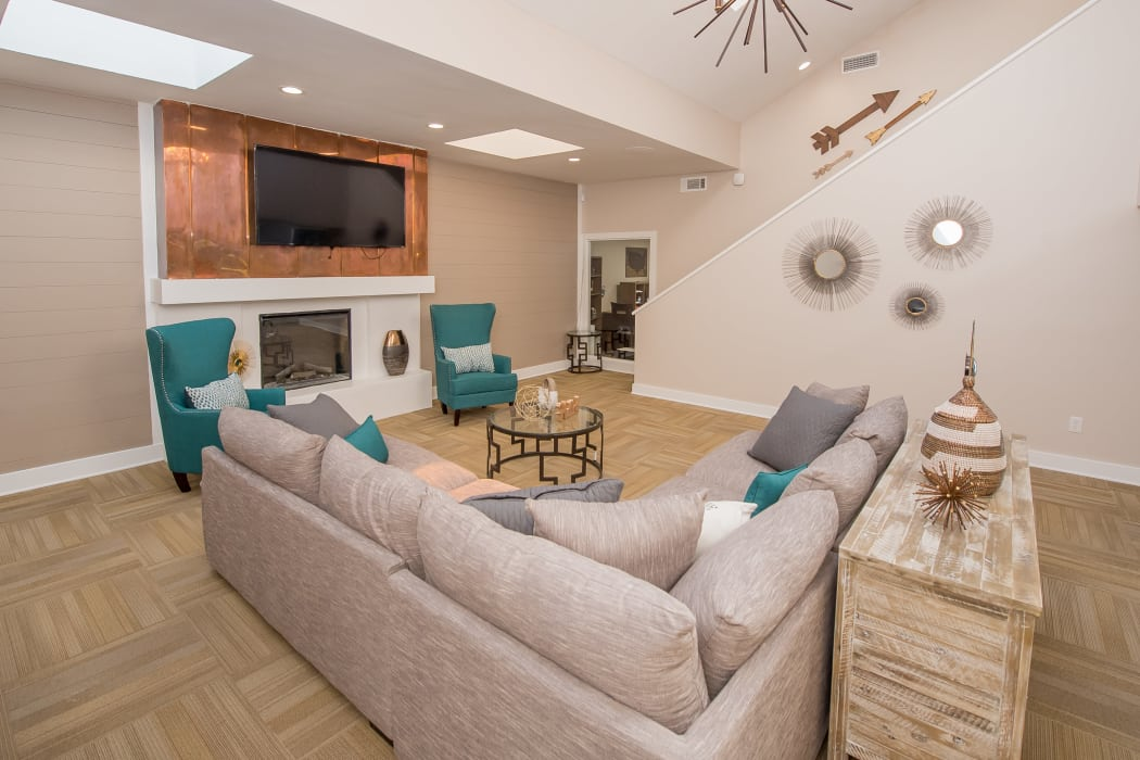 Spacious clubhouse at Sunchase Ridgeland Apartments in Ridgeland, Mississippi
