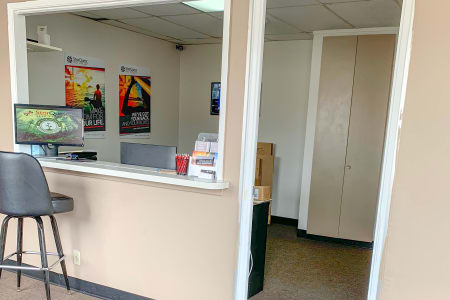 Front Office Counter At Our Lakewood Self Storage Facility