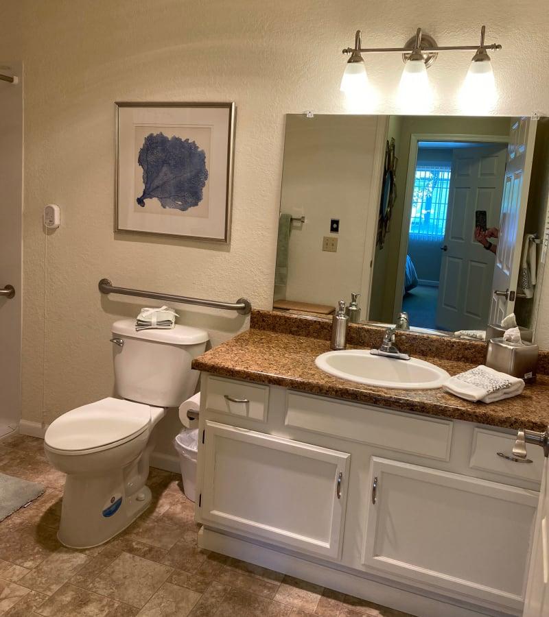 Bathroom at Pacifica Senior Living Fresno in Fresno, California