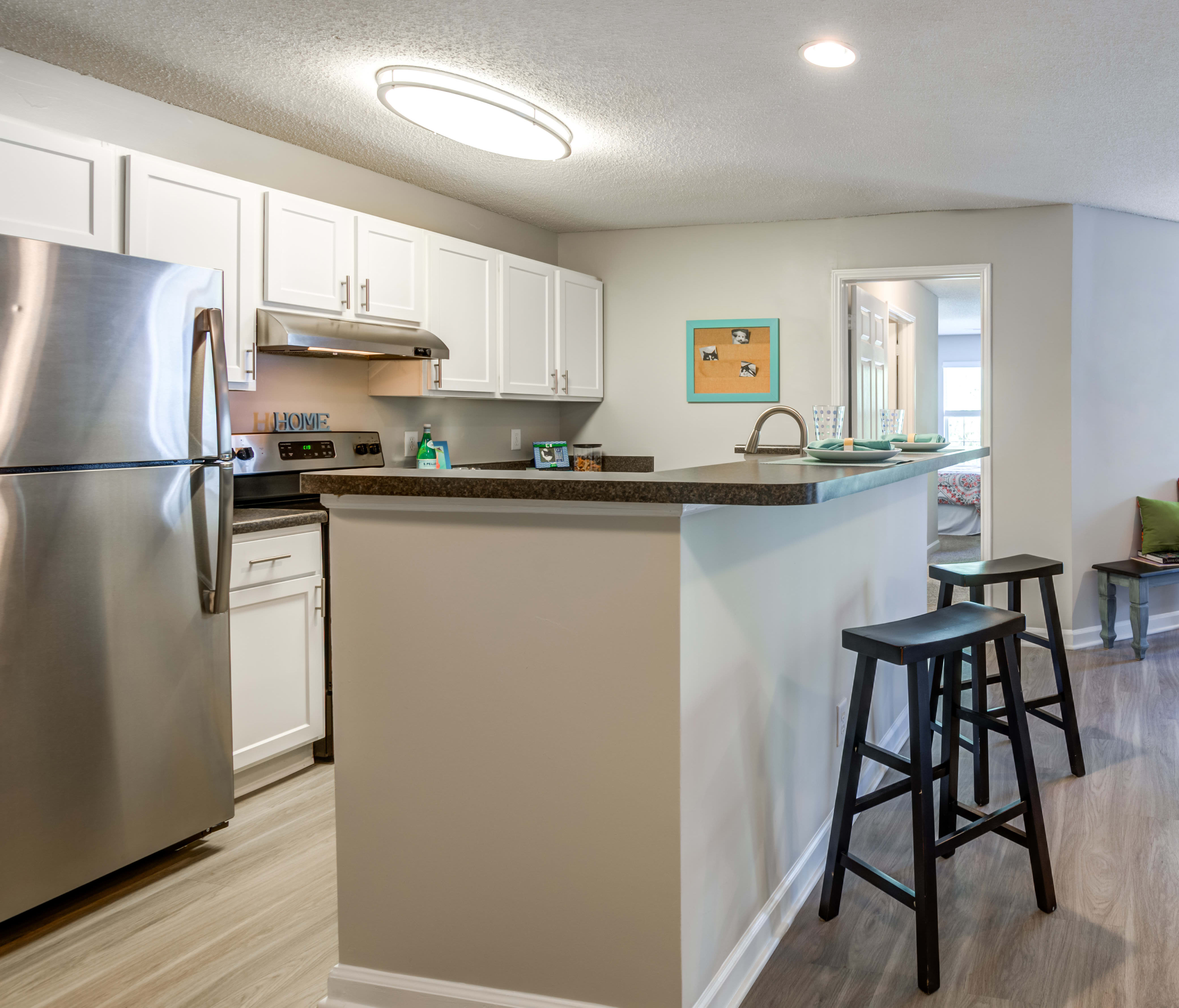 Upgraded kitchen at The Village Apartments